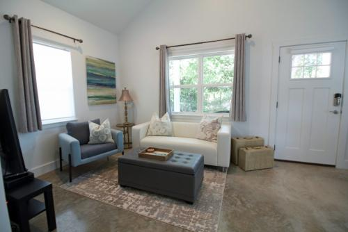 This is the comfortable living room area.
