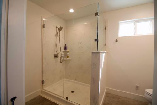 The oversize shower will feel great when you want to relax